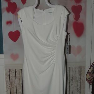 NEW with tags 89.99 Calvin Klein white dress